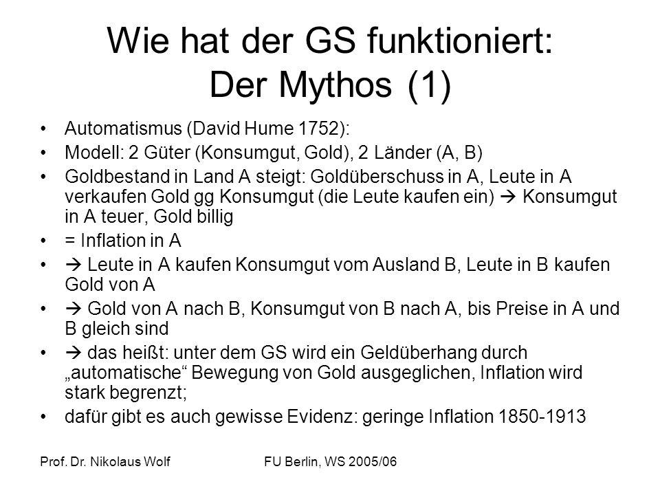 Wie hat der GS funktioniert: Der Mythos (1)