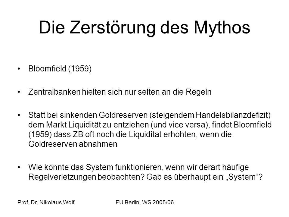 Die Zerstörung des Mythos