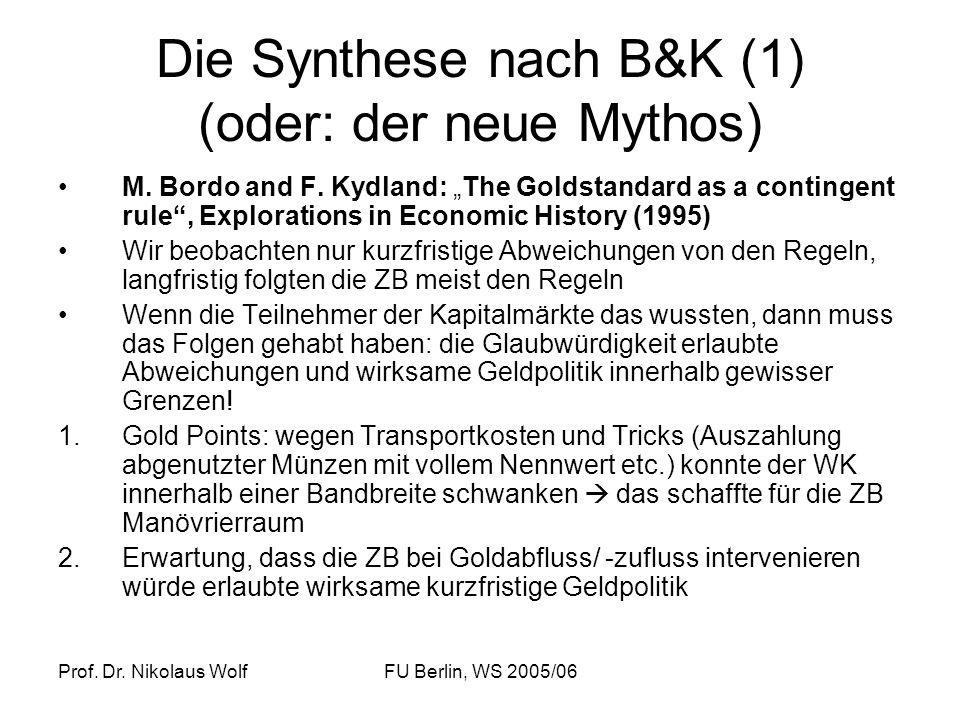 Die Synthese nach B&K (1) (oder: der neue Mythos)