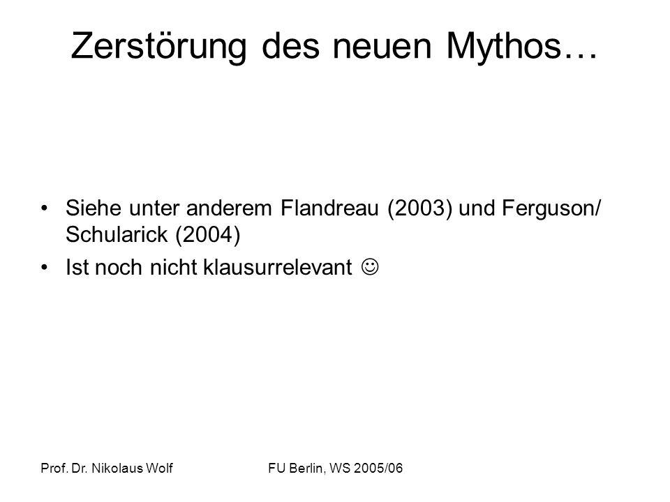 Zerstörung des neuen Mythos…