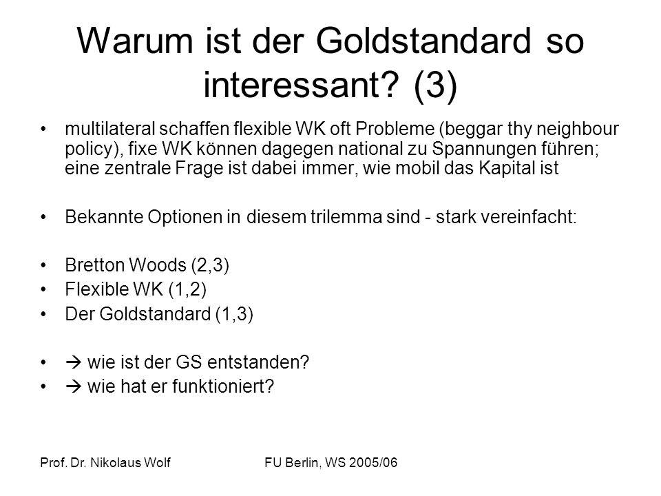 Warum ist der Goldstandard so interessant (3)