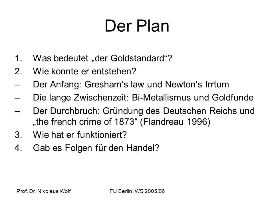 """Der Plan Was bedeutet """"der Goldstandard Wie konnte er entstehen"""