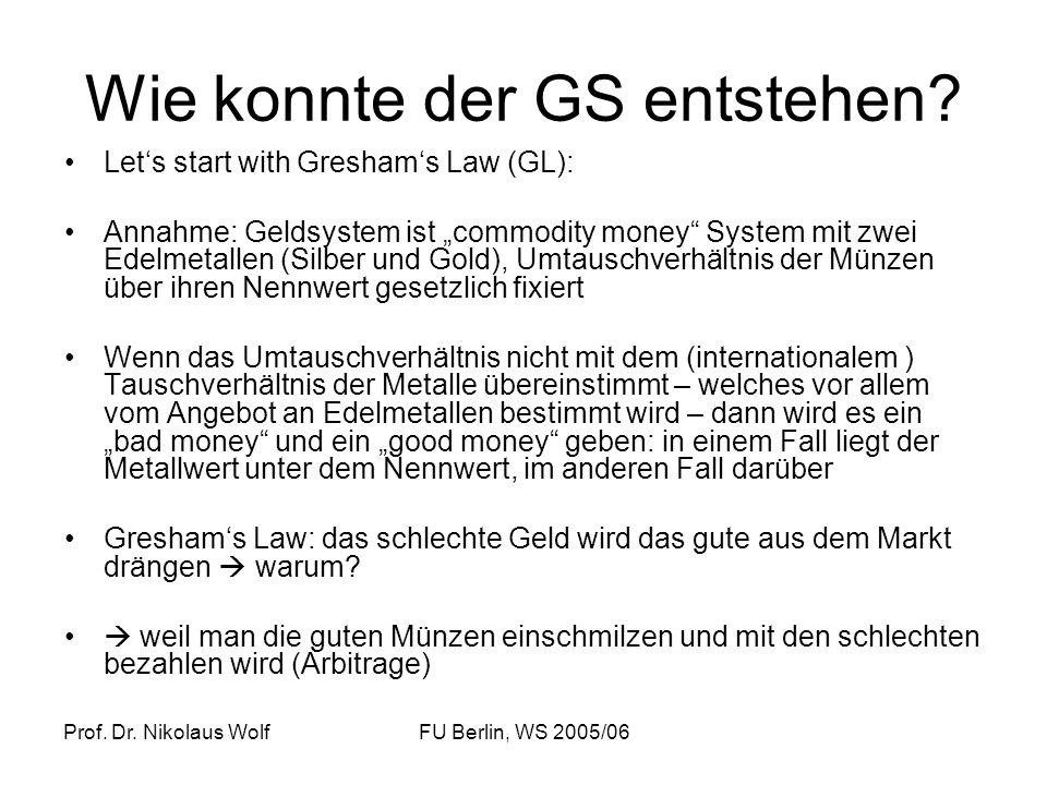 Wie konnte der GS entstehen