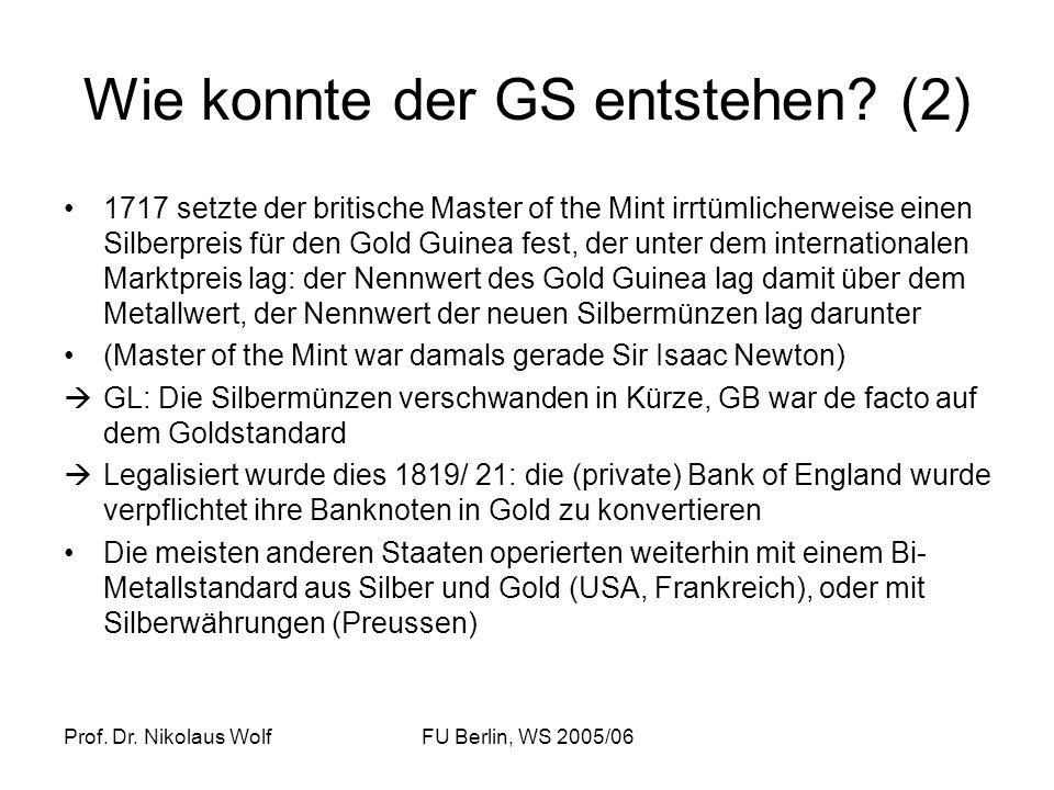 Wie konnte der GS entstehen (2)