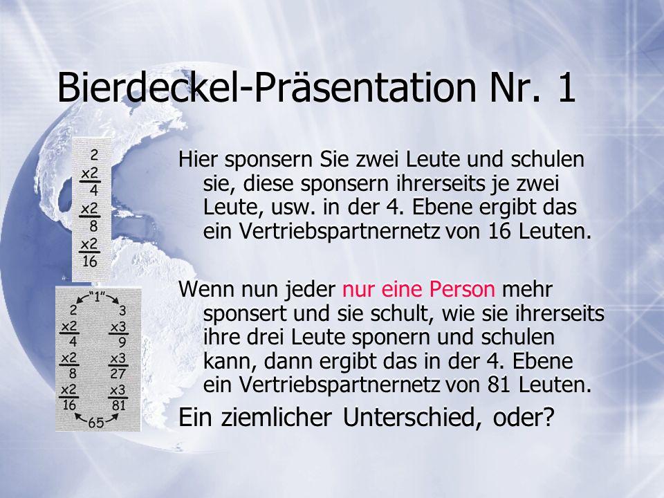 Bierdeckel-Präsentation Nr. 1