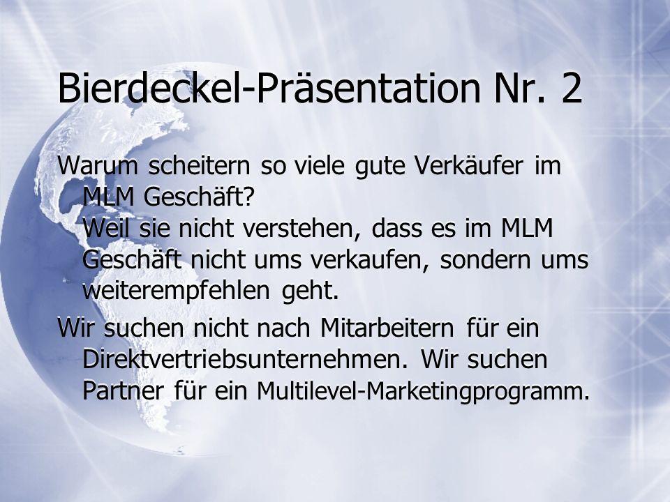 Bierdeckel-Präsentation Nr. 2