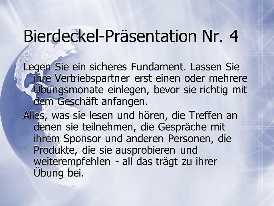 Bierdeckel-Präsentation Nr. 4
