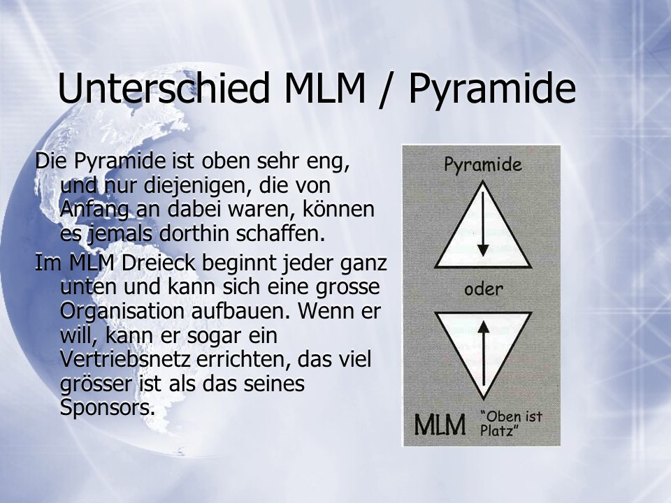 Unterschied MLM / Pyramide