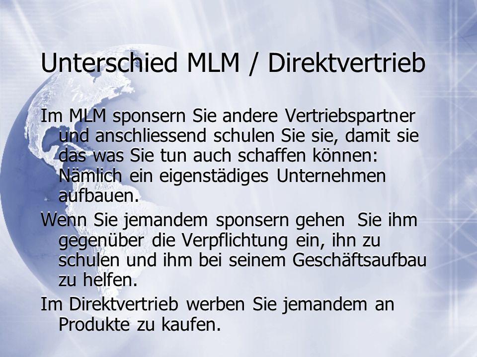 Unterschied MLM / Direktvertrieb