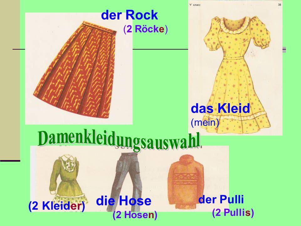 Damenkleidungsauswahl