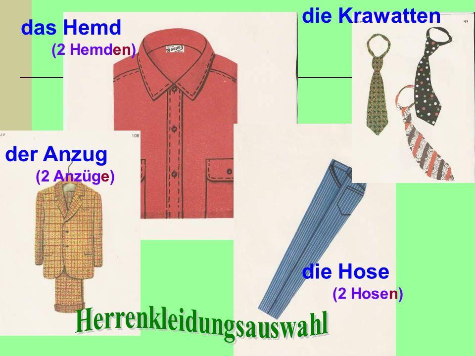 Herrenkleidungsauswahl