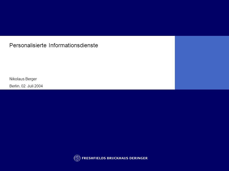 Personalisierte Informationsdienste