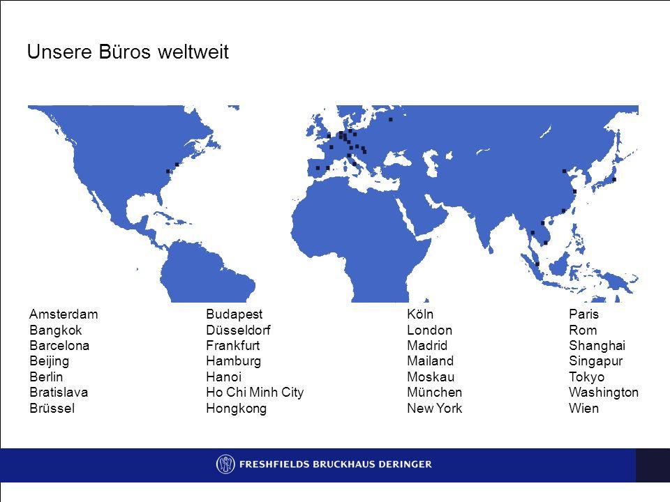 Unsere Büros weltweit Amsterdam Bangkok Barcelona Beijing Berlin