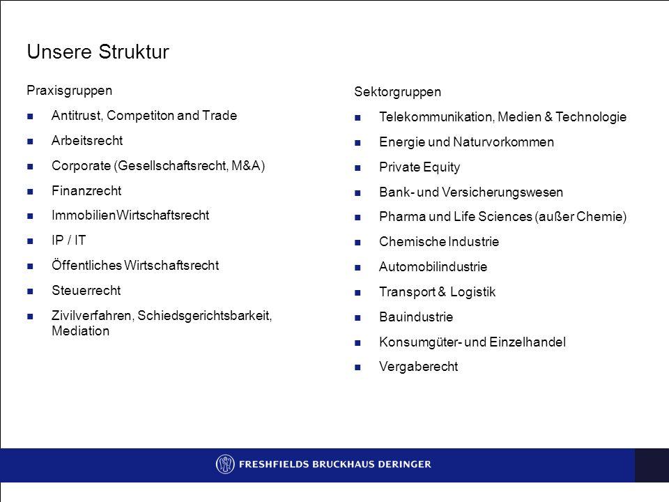 Unsere Struktur Praxisgruppen Sektorgruppen