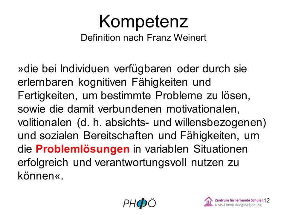 Kompetenz Definition nach Franz Weinert