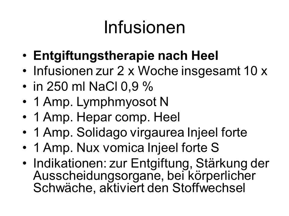 Infusionen Entgiftungstherapie nach Heel