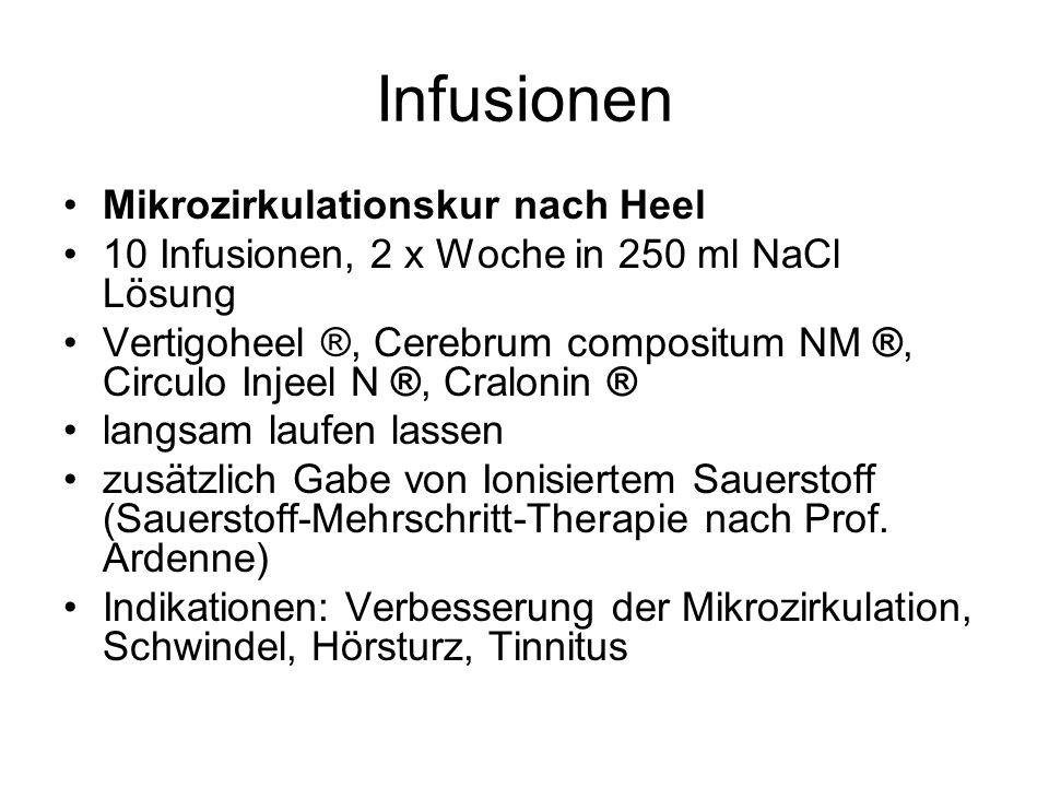 Infusionen Mikrozirkulationskur nach Heel