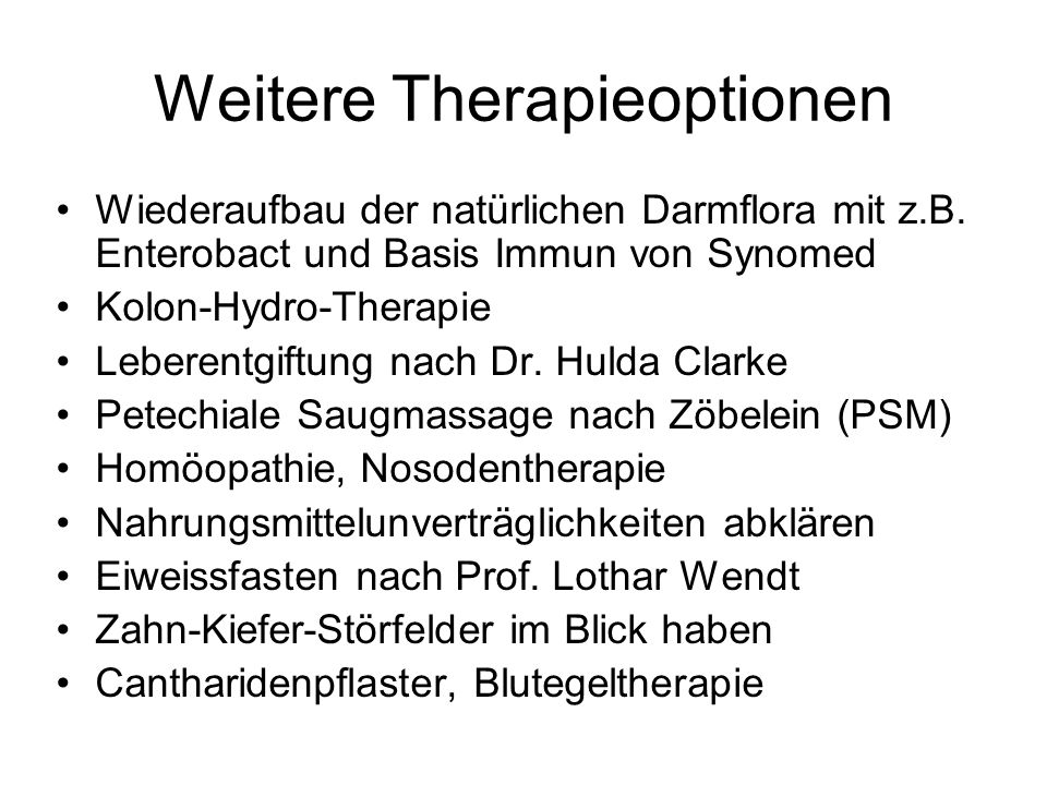 Weitere Therapieoptionen
