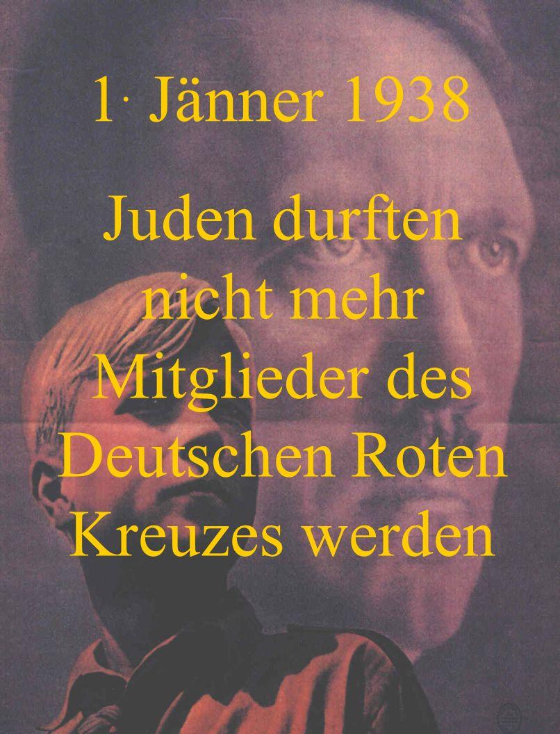 Juden durften nicht mehr Mitglieder des Deutschen Roten Kreuzes werden