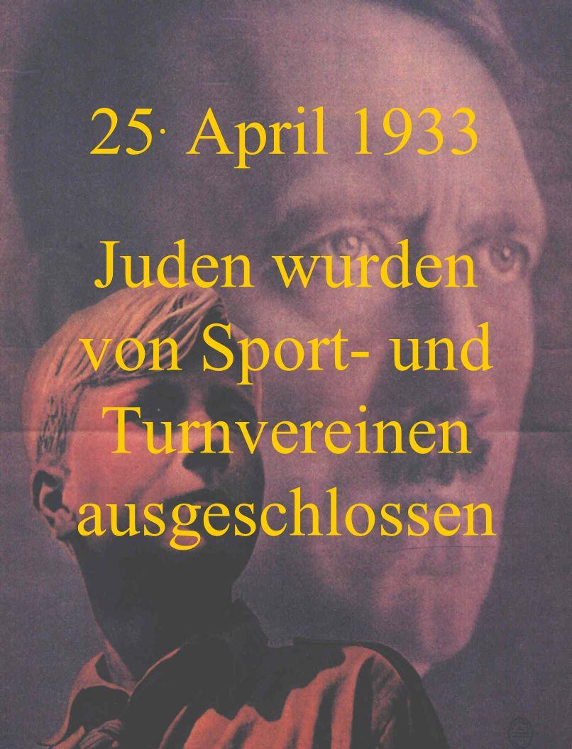 Juden wurden von Sport- und Turnvereinen ausgeschlossen