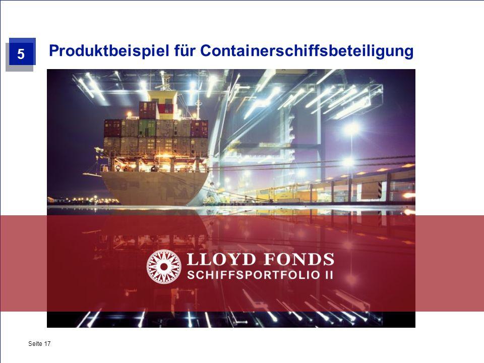 Produktbeispiel für Containerschiffsbeteiligung
