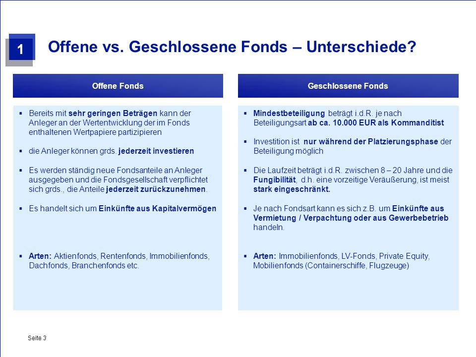Offene vs. Geschlossene Fonds – Unterschiede