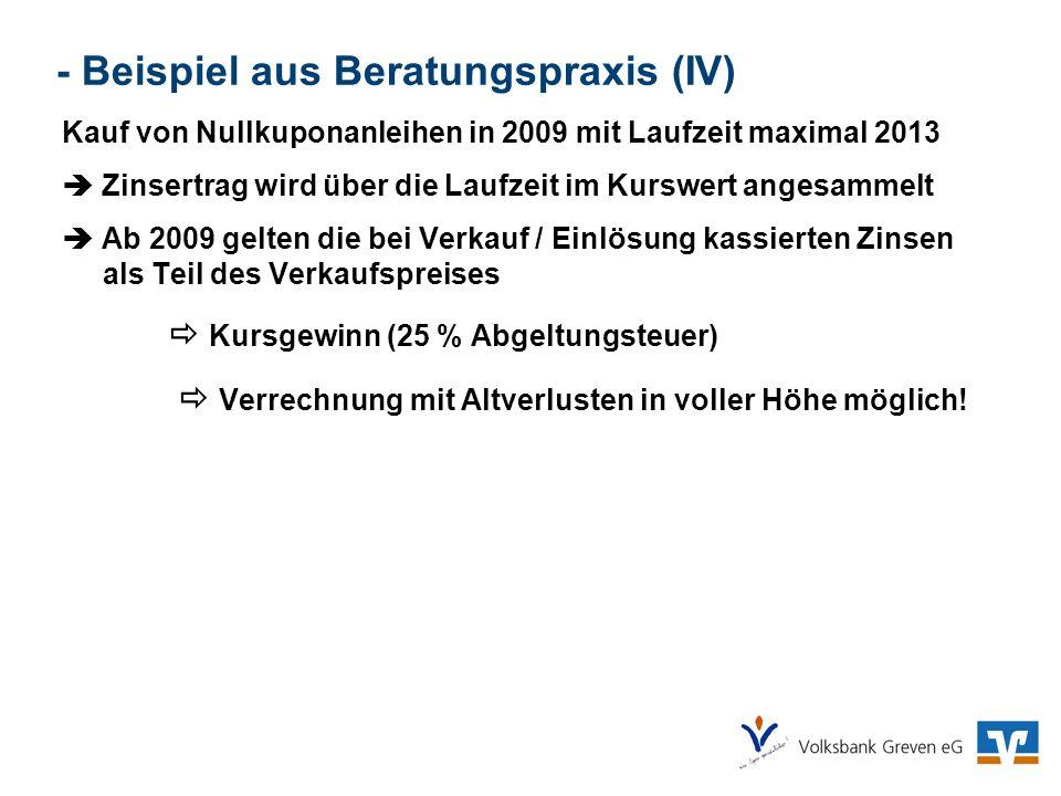 - Beispiel aus Beratungspraxis (IV)