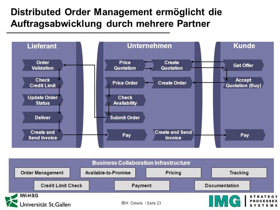 Distributed Order Management ermöglicht die Auftragsabwicklung durch mehrere Partner