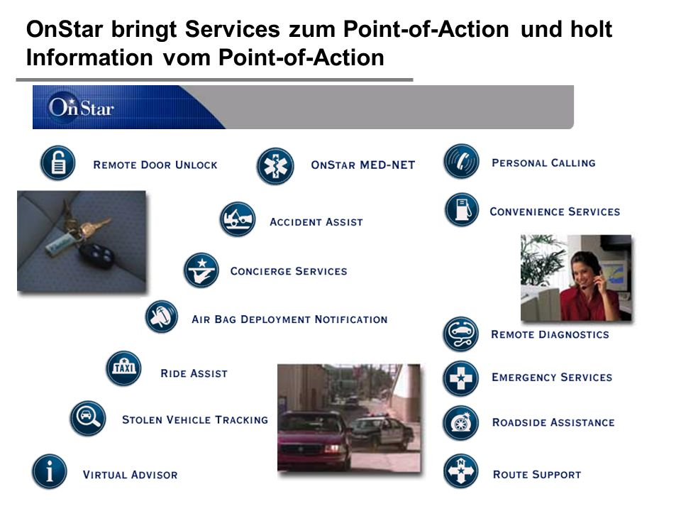 OnStar bringt Services zum Point-of-Action und holt Information vom Point-of-Action