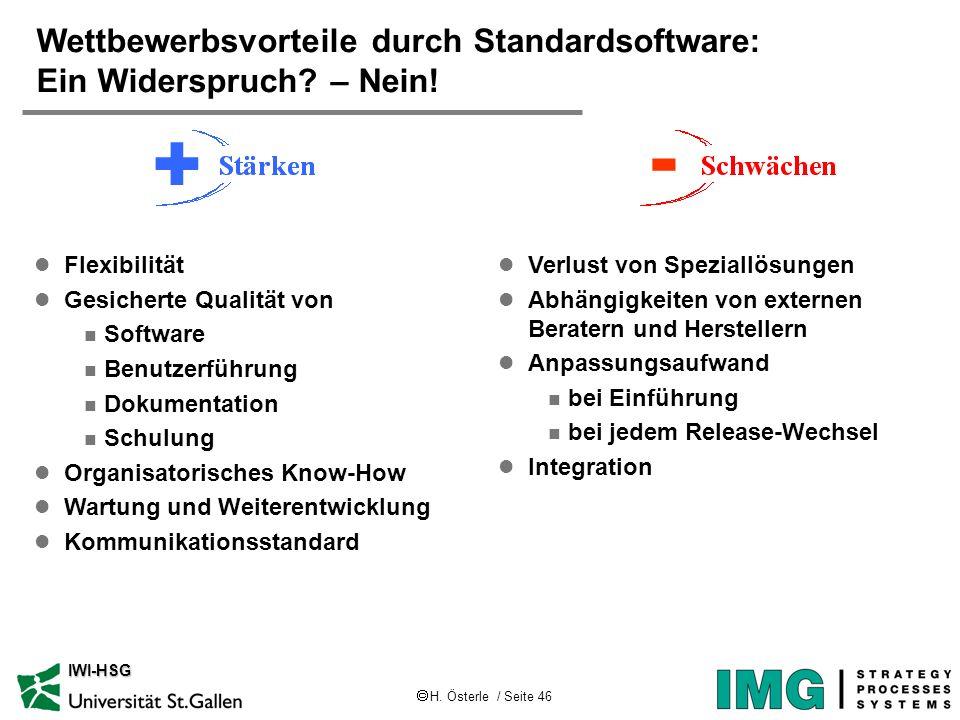 Wettbewerbsvorteile durch Standardsoftware: Ein Widerspruch – Nein!