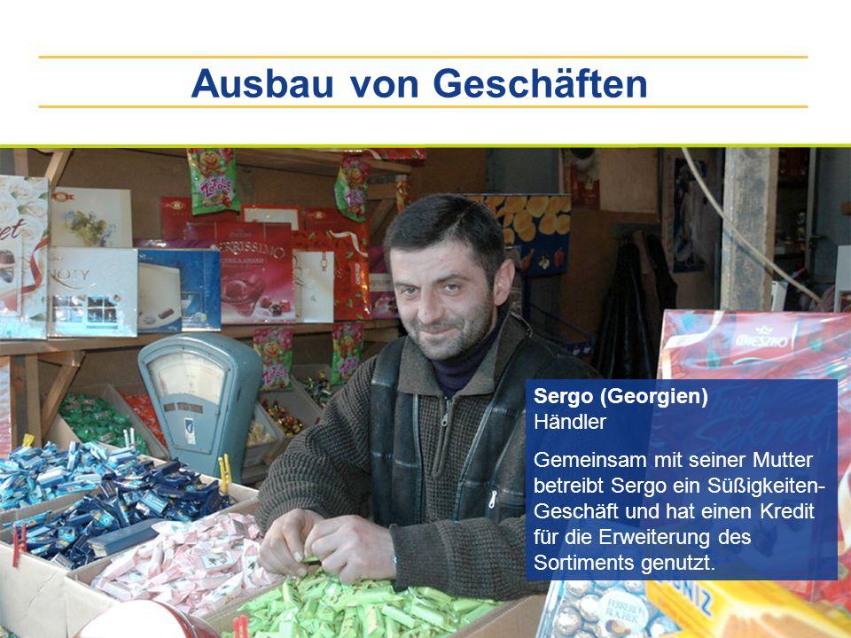 Ausbau von Geschäften Sergo (Georgien) Händler