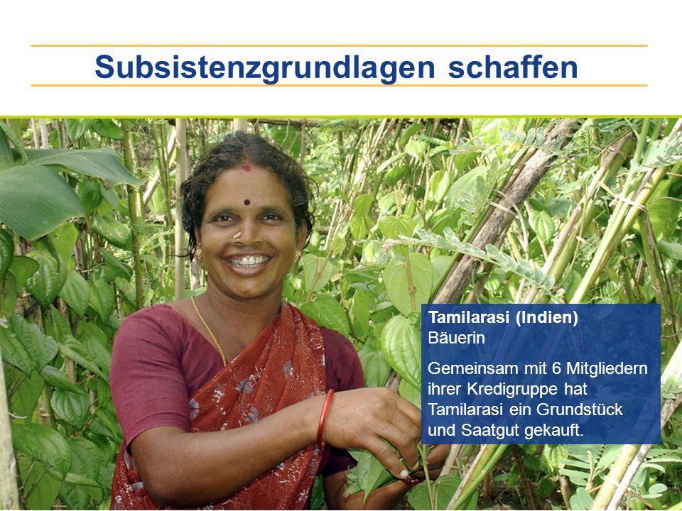 Subsistenzgrundlagen schaffen
