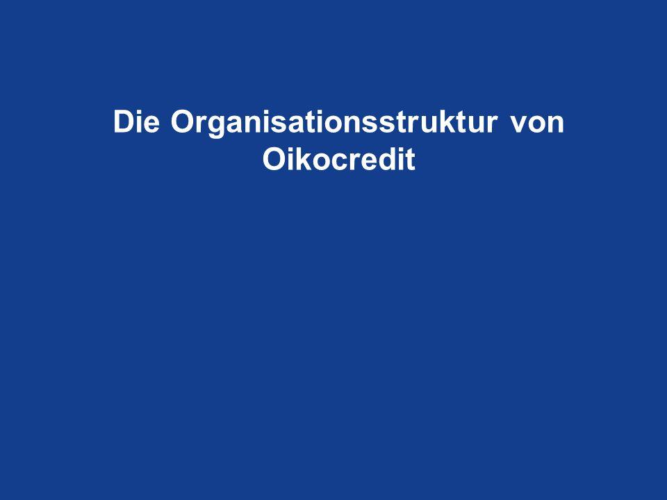 Die Organisationsstruktur von Oikocredit