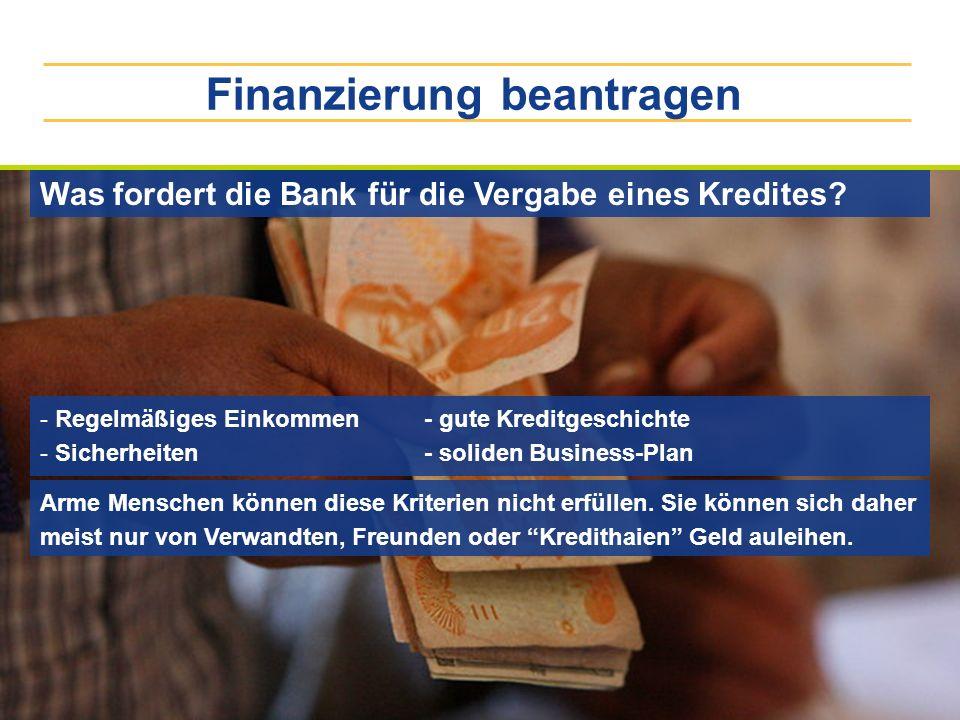 Finanzierung beantragen