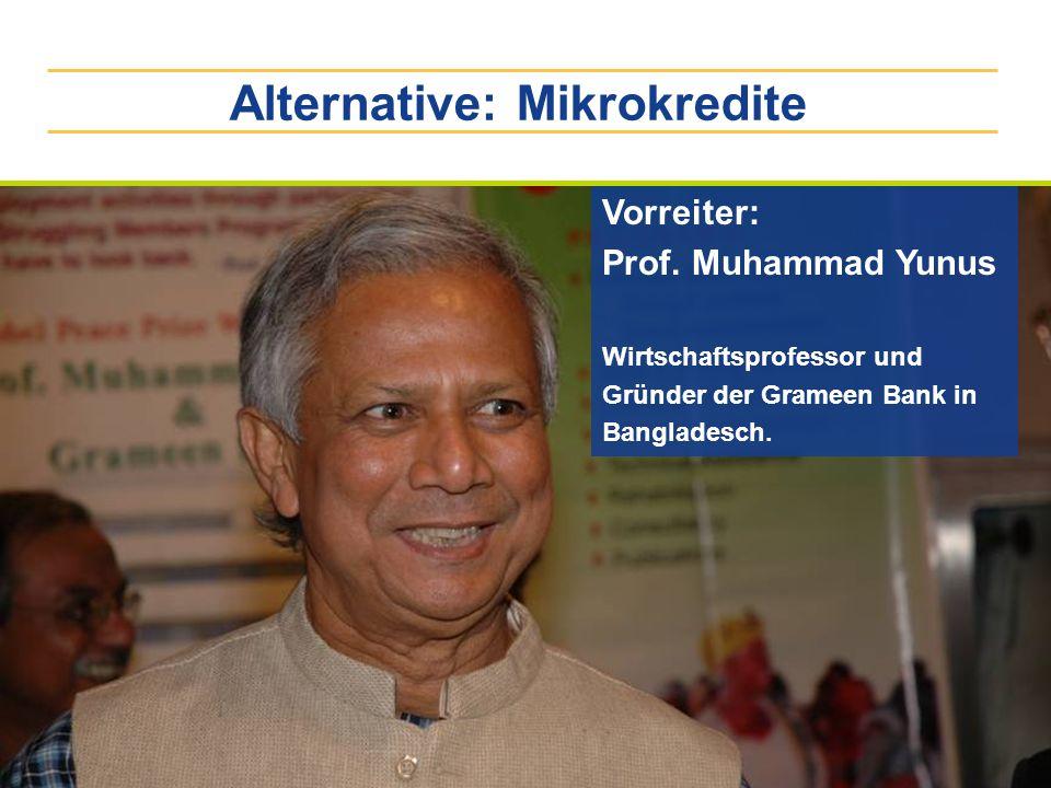 Alternative: Mikrokredite