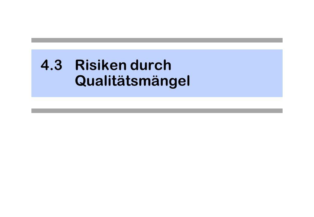 4.3 Risiken durch Qualitätsmängel