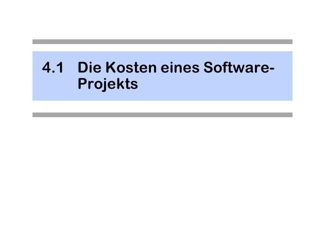 4.1 Die Kosten eines Software-Projekts