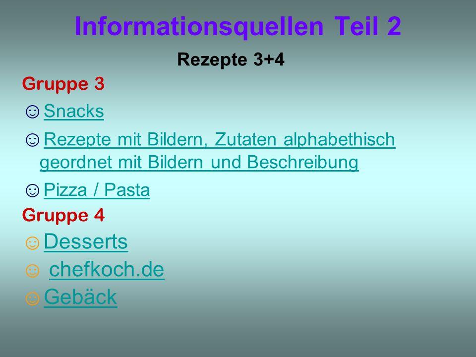 Informationsquellen Teil 2