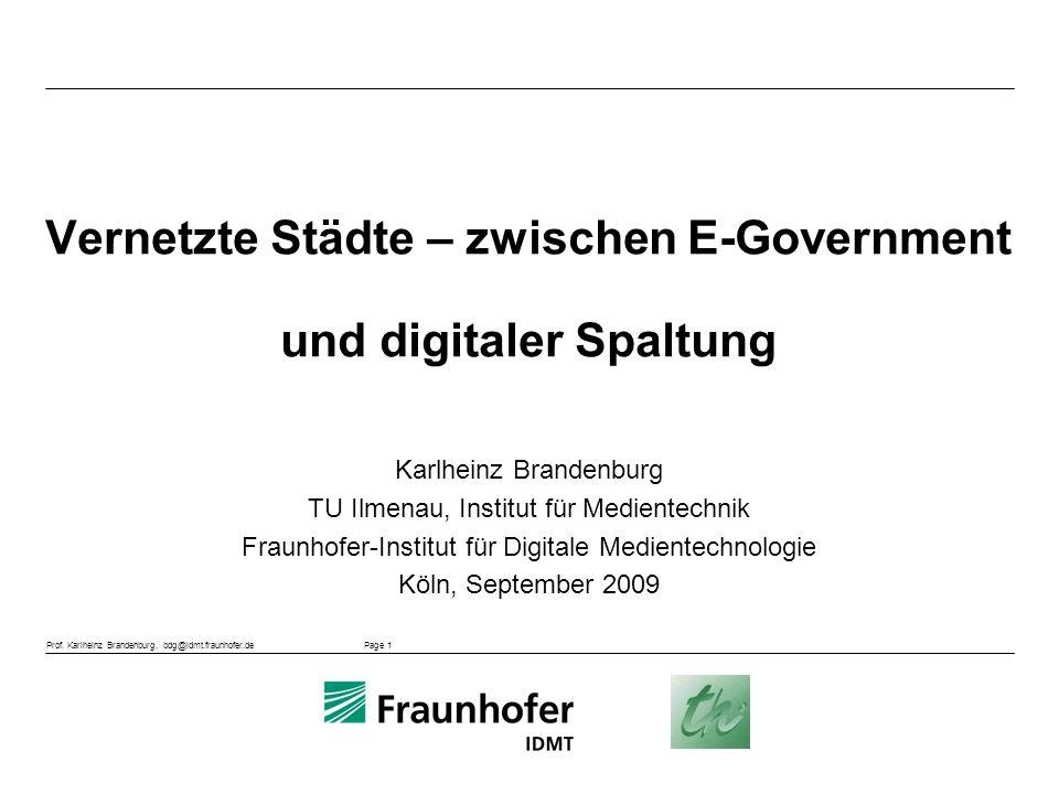 Vernetzte Städte – zwischen E-Government und digitaler Spaltung