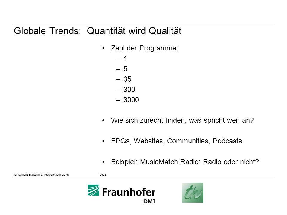 Globale Trends: Quantität wird Qualität