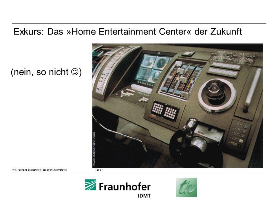 Exkurs: Das »Home Entertainment Center« der Zukunft (nein, so nicht )