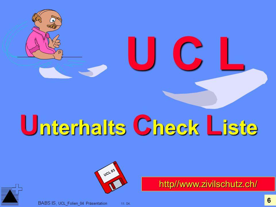 Unterhalts Check Liste