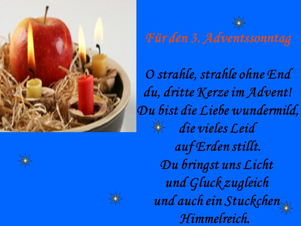 Für den 3. Adventssonntag O strahle, strahle ohne End