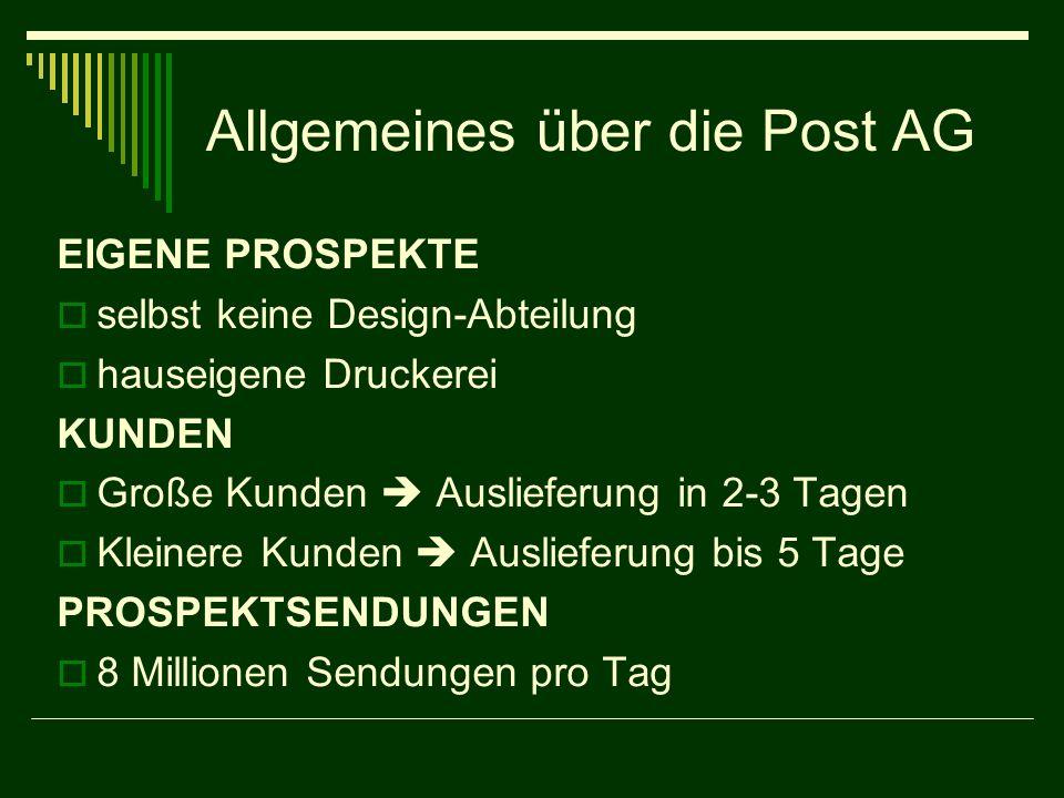 Allgemeines über die Post AG