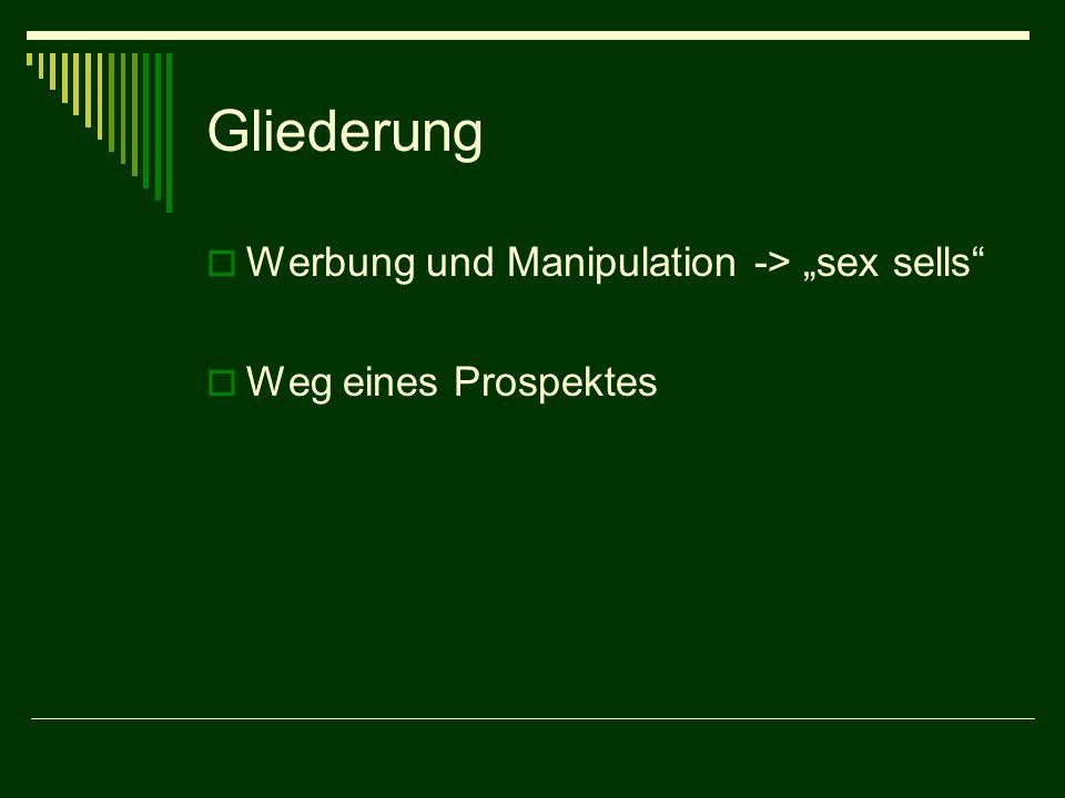 """Gliederung Werbung und Manipulation -> """"sex sells"""