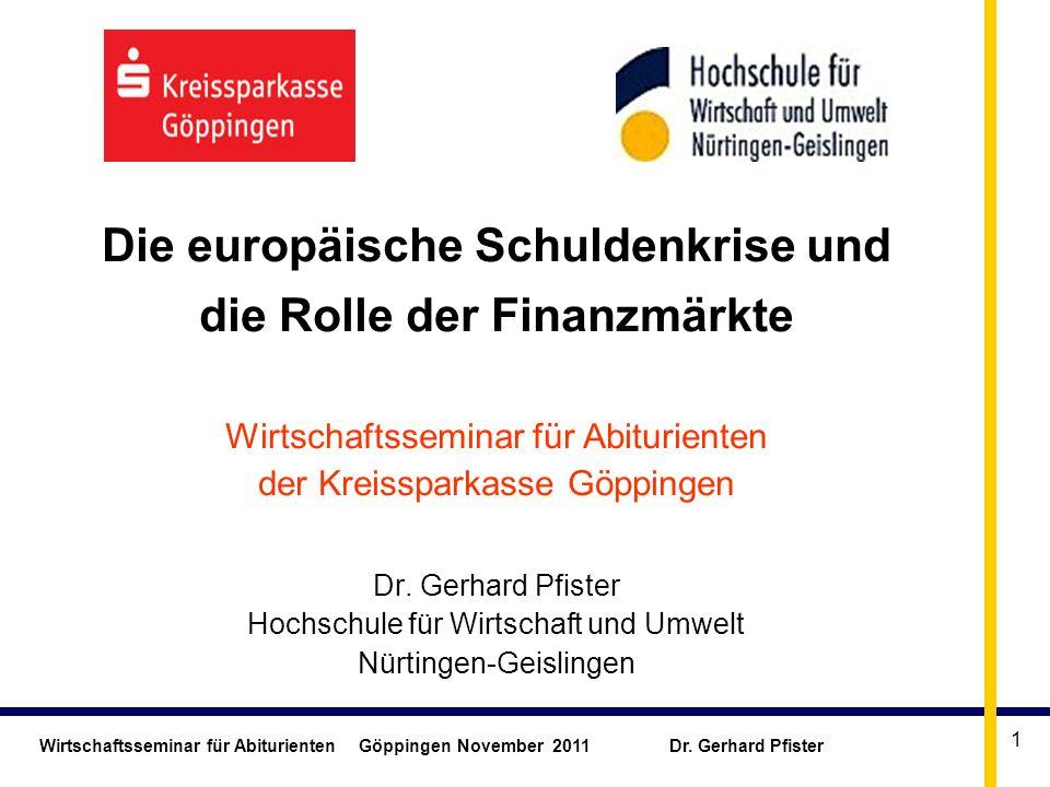 Die europäische Schuldenkrise und die Rolle der Finanzmärkte