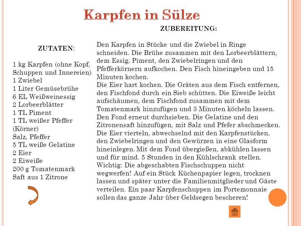 Karpfen in Sülze ZUBEREITUNG:
