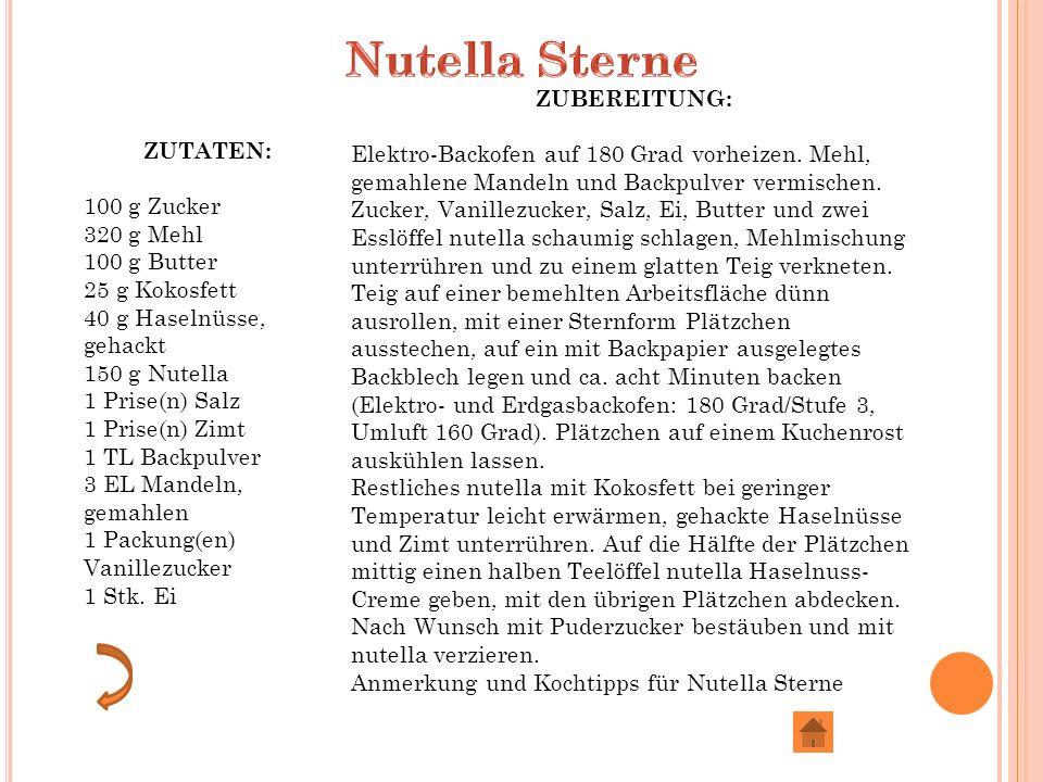 Nutella Sterne ZUBEREITUNG: