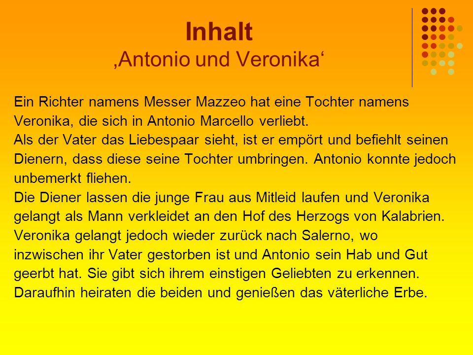 Inhalt 'Antonio und Veronika'