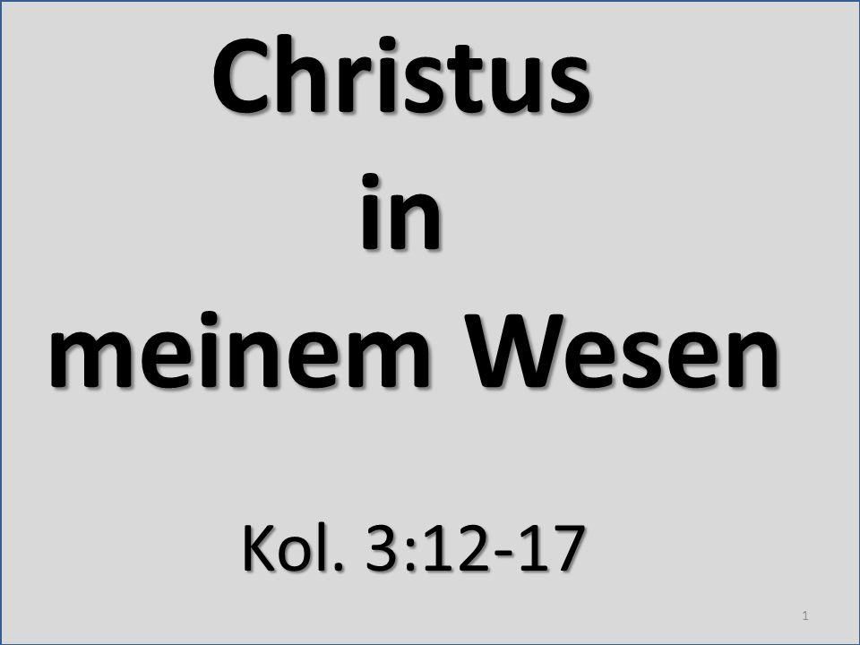 Christus in meinem Wesen
